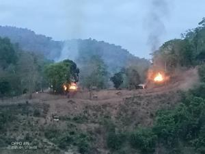 KNU เปิดฉากถล่มทหารพม่าริมฝั่งสาละวินตรงข้ามแม่สามแลบกระเจิง