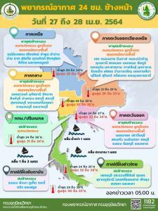 """อุตุฯ เตือนทั่วไทยเจอ """"พายุฤดูร้อน"""" อีสานโดนหนักสุด กทม.-ปริมณฑล ตกถึงร้อยละ 40"""