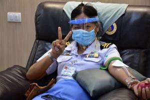 กรมเจ้าท่าร่วมบริจาคโลหิต ณ โรงพยาบาลศิริราช ช่วยเหลือผู้ป่วยในวิกฤตโควิด-19