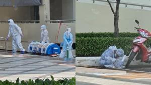 ภาพ จนท.ใส่ชุด PPE เป็นลม หลังเคลื่อนย้ายผู้ป่วยโควิด หนักกว่า 100 กก.ท่ามกลางอากาศร้อน