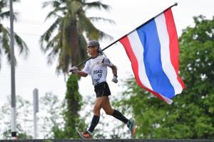 นักกีฬาผนึกมาร์แชล ตัวแทนคนไทย วิ่งธงส่งกำลังใจทัพนักกีฬา จากกำแพงเพชร จนถึง จ.ตาก