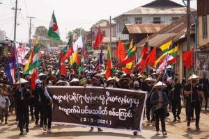 กองกำลังความมั่นคงพม่าเปิดฉากยิงใส่ผู้ชุมนุมประท้วงดับอย่างน้อย 5 คน