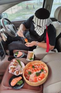 Drive-In  Buffet ร้าน Daiso Sushi (ภาพจากเพจ Daiso.Sushi สาขาหางดง)