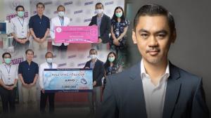 """""""เทพอาจ กวินอนันต์"""" ซีอีโอ LOVEiS Entertainment ช่วยหมอสู้โควิด ควักเงินส่วนตัว 5.2 ล้านบาท มอบเป็นอุปกรณ์การแพทย์"""