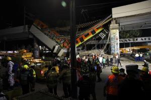 จี้หาผู้รับผิดชอบ! ทางรถไฟยกระดับพร้อมขบวนรถที่เม็กซิโกซิตี พังถล่มใส่ถนนข้างล่างดับอย่างน้อย 23 เจ็บอีก 65