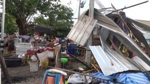 พายุฝนพัดถล่มสระบุรี บ้านเรือนประชาชนเสียหายนับ 10 หมู่บ้าน