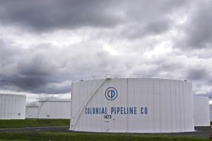 คลังน้ำมันของบริษัทโคโลเนียล ไปป์ไลน์ ในเมืองวูดบริดจ์ รัฐนิวเจอร์ซีย์ (ภาพถ่ายวันจันทร์ 10 พ.ค.)