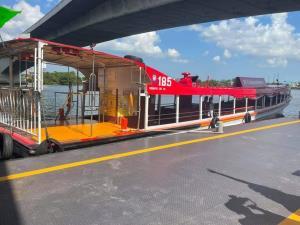 """เริ่ม 17 พ.ค.! เรือด่วนเจ้าพระยา ทดลองจอด """"ท่าสะพานพระนั่งเกล้า"""" เชื่อมต่อรถไฟฟ้าสีม่วง"""