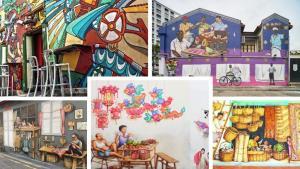 """""""สิงคโปร์"""" ชวนเที่ยวทิพย์ """"ศิลปะบนกำแพง"""" สะท้อนวิถีชีวิต หลากสีสัน"""