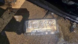 ระทึก! เพลิงไหม้วอดรถยนต์ติดแก๊สขณะวิ่งบนถนนใน จ.สระแก้ว โชคดีคนขับหนีตายได้ทัน