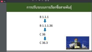 """อธิบดีกรมวิทย์ แจงโควิด-19 กลายพันธุ์ C.36.3 พบจากชาวอียิปต์เดินทางมาไทยระหว่างอยู่ใน SQ ชี้ไม่ควรเรียก """"สายพันธุ์ไทย"""""""