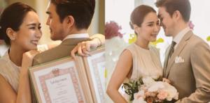 """ชื่นมื่น!! """"จั๊กจั่น-เค"""" จูงมือจดทะเบียนสมรส พร้อมเริ่มต้นชีวิตคู่แล้ว"""