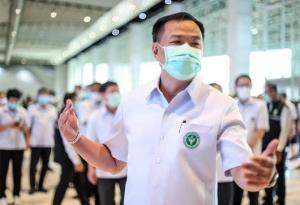 """""""อนุทิน"""" ย้ำอย่าห่วงวัคซีนโควิด-19 พอแน่นอน สำหรับคนไทยทุกคน ขอให้ประชาชนมั่นใจ"""