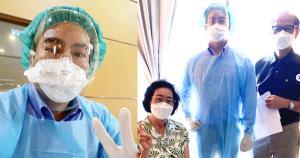 """สุดภูมิใจ""""หมอโอ๊ค สมิทธิ์""""จังหวะดี ได้ฉีดวัคซีนป้องกันโควิดให้พ่อแม่กับมือ"""
