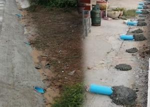 มึนตึ้บ! อบต.บ้านกลางเฉลยการทำท่อทิพย์ ป้องกันน้ำขังหน้าบ้านประชาชน