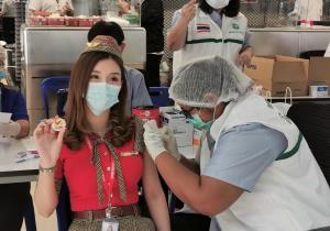 """""""ไทยเวียตเจ็ท""""ฉีดวัคซีนพนักงานทุกคน สร้างเชื่อมั่น พร้อมบินทุกเส้นทางฟื้นท่องเที่ยว"""