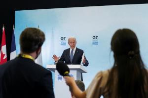 ผู้นำจี7 ปิดประชุมซัมมิต  คุยโวตกลงแผนปฏิบัติการเรื่อง 'วัคซีนสู้โควิด' และ 'โลกร้อน' พร้อมจัดขบวน'ตะวันตก'เผชิญหน้า จีน-รัสเซีย