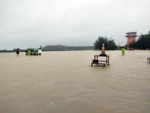 สภาพของรันเวย์สนามบินตานต่วย (จากสำนักข่าว Narinjara)
