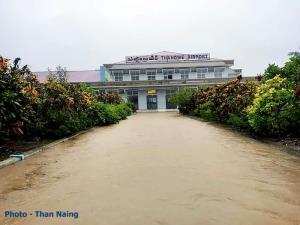 หน้าอาคารผู้โดยสาร สนามบินตานต่วย
