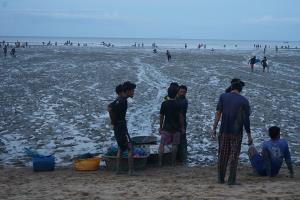 คึกคัก! ชาวบ้านแห่ตักลูกหอยแครงสร้างรายได้วันละนับหมื่นบาทต่อคน