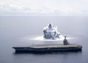 ตื่นตาตื่นใจ! แพร่คลิปสหรัฐฯ ใช้ระเบิด 18 ตัน ทดสอบความทนเรือบรรทุกเครื่องบิน (ชมวิดีโอ)