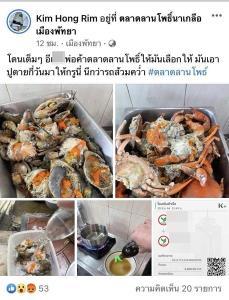 """โลกออนไลน์ฉะเดือด """"ปูไม่สด"""" เมืองพัทยาเร่งตรวจสอบคุณภาพอาหารทะเลตลาดลานโพธิ์นาเกลือ"""