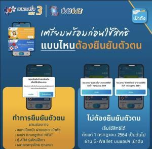กรุงไทยแนะขั้นตอนเตรียมความพร้อมก่อนใช้สิทธิคนละครึ่งเฟส 3 วันที่ 1 ก.ค.นี้