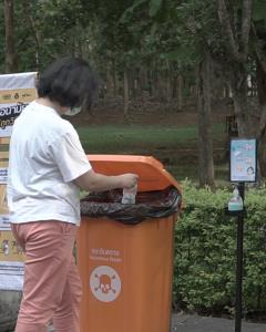 รณรงค์ประชาชนคัดแยกทิ้งหน้ากากอนามัยถูกวิธี ตย.โมเดลจัดการขยะติดเชื้อปลอดภัย