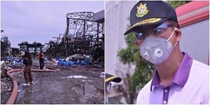 อธิบดี คพ. ลงตรวจพื้นที่เกิดเหตุระเบิดและเพลิงไหม้บริษัท หมิงตี้ เคมีคอล จำกัด สั่ง เฝ้าระวังมลพิษต่อเนื่อง