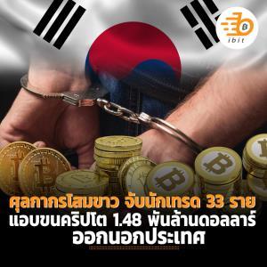ศุลกากรเกาหลีใต้ จับนักเทรด 33 ราย แอบขนเหรียญคริปโต 1.48 พันล้านดอลลาร์ออกนอกประเทศ