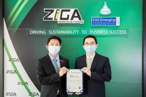 ZIGA ติดอันดับหุ้นยั่งยืนกลุ่ม ESG Emerging ปี 64