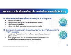 นายกรัฐมนตรี ประกาศเดินหน้าแผนปฏิบัติการขับเคลื่อนประเทศไทย โมเดลศก. BCG ใน 7 ปี (64-70)