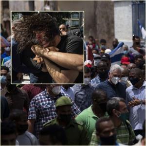 In Pics: ชาวคิวบาลุกฮือครั้งใหญ่ประท้วงรบ.ฮาวานาขึ้นราคาสินค้า-ของขาดตลาด