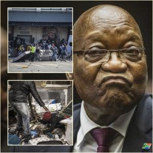 """In Pics: เสียชีวิตเพิ่ม 45 ปล้นสะดมไปทั่วแอฟริกาใต้ กำลังทหารเข้าคุมสถานการณ์จลาจล หลังอดีตผู้นำ """"จาค็อบ ซูมา"""" ถูกส่งเข้าเรือนจำ"""