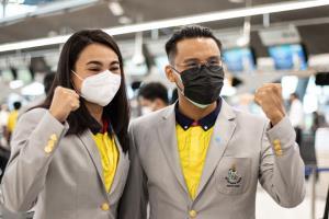 """""""เจนจิรา-นวพรรษ"""" 2 ความหวังว่ายน้ำไทย ลัดฟ้าลุยโอลิมปิก ตั้งเป้าทำลายสถิติตัวเอง"""