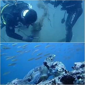 ขยะในทะเลไม่หมด!  ชมคลิปภารกิจแสนยากของผู้พิทักษ์ ที่อช.หมู่เกาะชุมพร