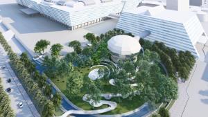 ธพส.สร้างสวนเพื่อชุมชน พร้อมบูรณะศาลองค์ท้าวมหาพรหม ภายในศูนย์ราชการเฉลิมพระเกียรติฯ แจ้งวัฒนะ