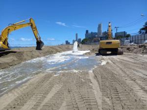 กรมเจ้าท่าเร่งเสริมทรายชายหาดจอมเทียน 6.2 กม. เฟสแรก 3.5 กม.เสร็จ พ.ย. 65