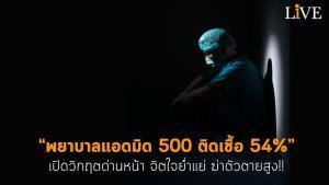 """เปิดวิกฤตด่านหน้า """"พยาบาลแอดมิด 500 ติดเชื้อ 54%"""" จิตใจย่ำแย่ ฆ่าตัวตายสูง!!"""
