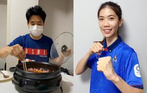 """""""เชฟเช"""" จัดให้!! ทำข้าวผัดกิมจิให้ """"เทนนิส"""" หม่ำก่อนเตะโอลิมปิก"""