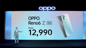 OPPO ดึง 'ญาญ่า' พรีเซ็นเตอร์อีกครั้งกับ Reno6 Z 5G เคาะราคา 12,990 บาท