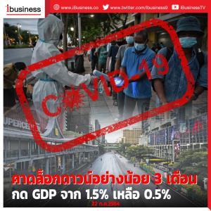 คาดล็อกดาวน์อย่างน้อย 3 เดือน กด GDP จาก 1.5% เหลือ 0.5%