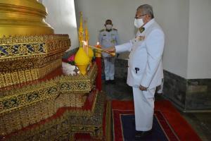 ในหลวงโปรดเกล้าฯ ม.จ.ฑิฆัมพร ไปทรงจุดเทียนพรรษาเนื่องในเทศกาลเข้าพรรษาประจำปี 2564