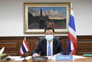 """""""อนุทิน"""" ประชุมรัฐมนตรีสาธารณสุขอาเซียนสมัยพิเศษ พร้อมสนับสนุนลดการระบาดของโควิดในอาเซียน"""