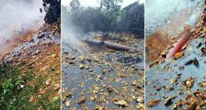 """""""กองกำลังประชาชนพม่า"""" ทำลายท่อส่งก๊าซกลางป่ารัฐมอญ อ้างเป็นของกองทัพพม่าที่ขายให้ไทย"""