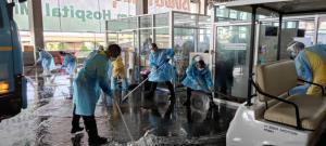 รพ.บุษราคัม Big cleaning จุดแรกรับผู้ป่วย จัดระบบ Fast track สำหรับกลุ่มเปราะบาง