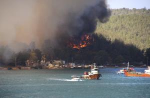 In Pics : ไฟป่า 'ตุรกี' ลามเมืองตากอากาศ นักท่องเที่ยวแห่หนีตาย ยอดดับพุ่ง 8 ศพ