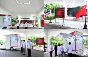 สถานทูตจีนประจำประเทศไทยมอบรถตรวจโควิด-19 ให้กระทรวงสาธารณสุขไทย