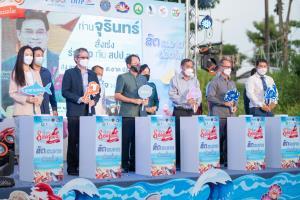 """สปป.ลาวจัดกิจกรรมงานอาหารทะเลไทย """"สด สะอาด ปลอดภัย"""" ไร้สารปนเปื้อนโควิด-19 สร้างความมั่นใจให้ผู้บริโภค"""