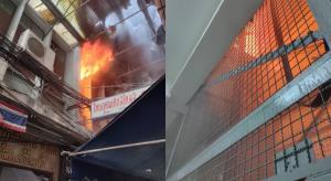 ระทึก! ไฟไหม้ตึกเก่าย่านเยาวราช  ล่าสุดควบคุมเพลิงได้แล้ว